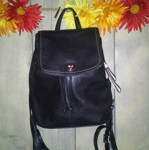 Coach black leather backpack excellent condition